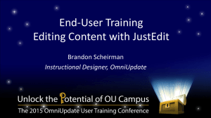 Power Point Slides - OU Campus Support