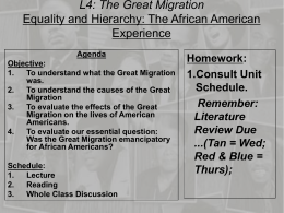 Was the Great Migration emancipatory for African Americans?