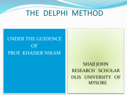 the delphi method - University of Mysore