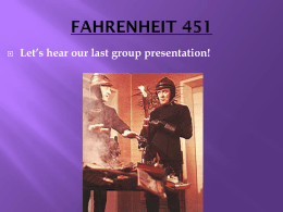 April 18_ 2012- Fahrenheit 451 class discussion