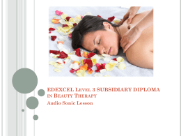 VRQ Level 3 Diploma in Beauty Therapy