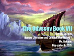 The Odyssey Book VII - Ms
