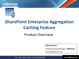 KWizCom Enterprise Aggregation Caching Feature