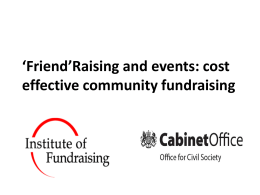 `Friend`Raising and Events - Small Charities Coalition
