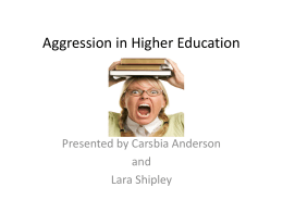 Carsbia Aggression Management