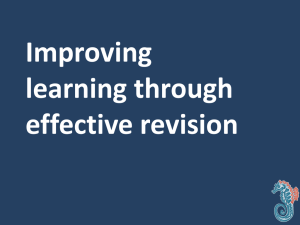 Top Revision Tips (5/2/2015)