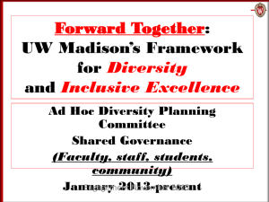 UW–Madison`s Framework for Diversity and Inclusive Excellence
