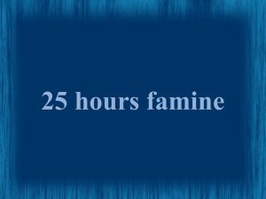 25 hours famine