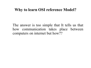 Why to learn OSI reference Model?