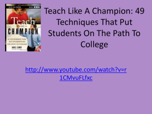 Teach Like A Champion: 49 Techniques That Put