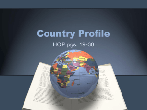 Country Profile - Handout Packet (HOP)