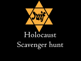 Holocaust Scavenger Hunt PPT group work