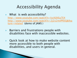 Accessibility Basics: A Powerpoint Presentation
