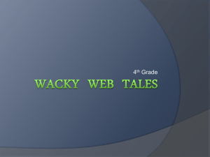 Using Wacky Web Tales