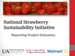 NSSI Outcomes Presentation - National Strawberry Sustainability