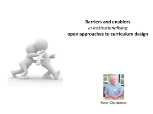 Chatterton - Barriers and Enablers to Open Approaches