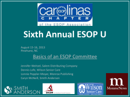 Sixth Annual ESOP U - The ESOP Association