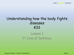 PP1 Understanding how the body fights diseases lesson 1 ST