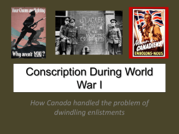 Conscription During World War I