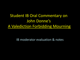 A Valediction Forbidding Mourning