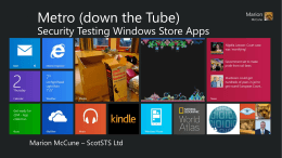 Security Testing Windows Store Apps