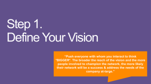 SDPS Yammer PoC - Define your vision