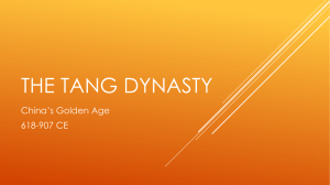 The TANg dynasty - MrsVangelista.com