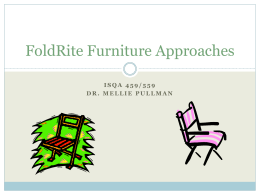 FoldRite Furniture