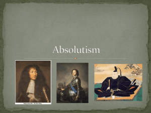 Absolutism - Mr. Zittle`s Classroom