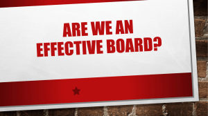 Are we an effective Board?