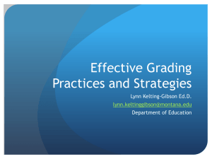 Effective Grading Practices PowerPoint
