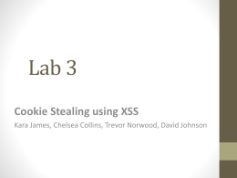 Cookie Stealing and XSS Presentation (Click to