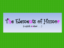 The Elements of Humor