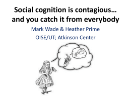 Social Cognition and Development