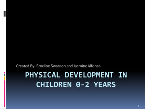 Physical Development in Children 0