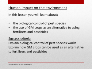 L3 -biological control and GM crops