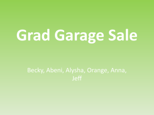 Grad Garage Sale - Sardis Secondary Students