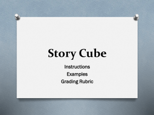 Story Cube Assignment PPT (includes examples, instructions, and