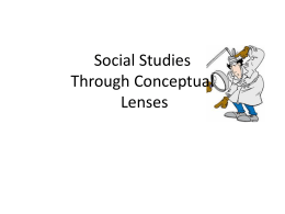 Social Studies Through Conceptual Lenses