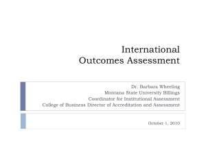 International Outcomes Assessment