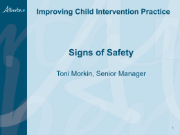 Signs of Safety -Toni Morkin