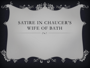 Is the Wife of Bath an object of satire or an instrument of it?