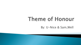 Theme of Honour in Act One - Year 12/13 IB English Lang-Lit