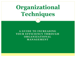 Get Organized - Northern Michigan University