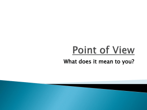 Unit 12 - Point of View