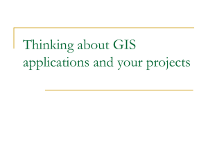 Thinking about GIS applications and your projects