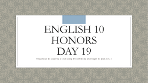 English 10 Honors day 19