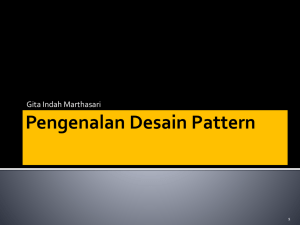 Intro to Design Pattern