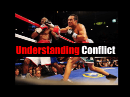 An external conflict is.