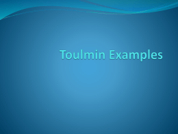 Toulmin Examples